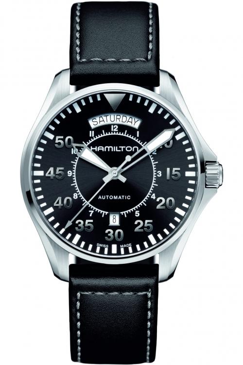 Mens Hamilton Khaki Pilot Day-Date Automatic Watch H64615735
