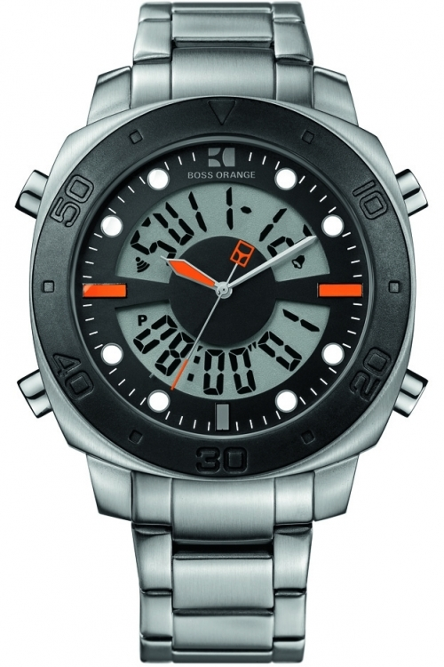 Mens Hugo Boss Orange Alarm Chronograph Watch 1512843