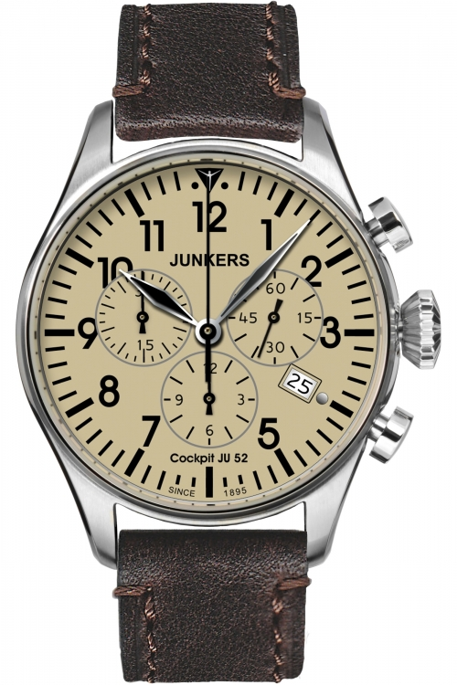 Mens Junkers Cockpit JU52 Chronograph Watch 6180-5