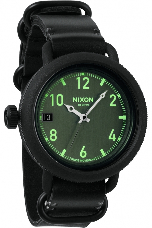 Mens Nixon The October Leather Watch A279-1001