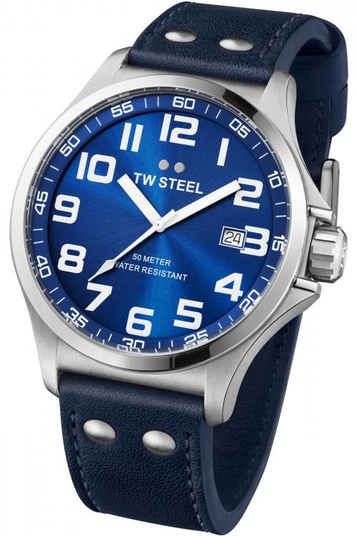 Mens TW Steel Pilot 48mm Watch TW0401