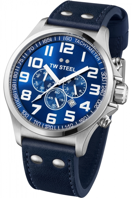 Mens TW Steel Pilot Chronograph 48mm Watch TW0403