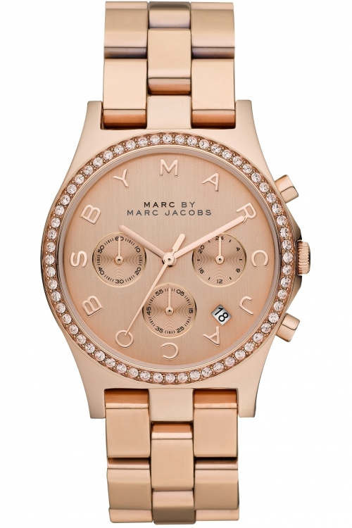 Ladies Marc by Marc Jacobs Henry Glitz Chronograph Watch