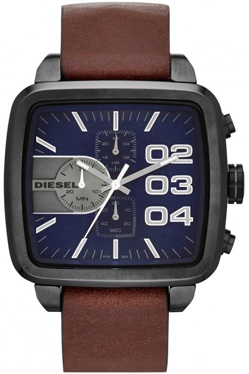 Mens Diesel Square Double Down Chronograph Watch DZ4302