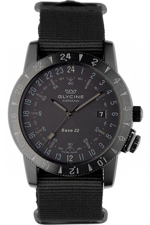 Mens Glycine Airman Base 22 Mystery Purist Automatic Watch 3887.99/66.TB99