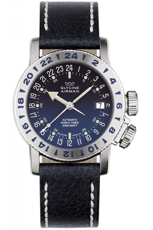 Mens Glycine Airman 18 Purist Automatic Watch 3918.18/66-LB8B