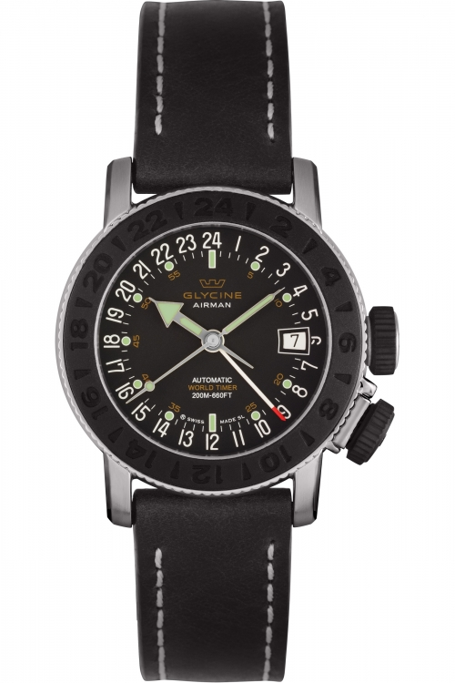 Mens Glycine Airman 18 Sphair Automatic Watch 3928.191
