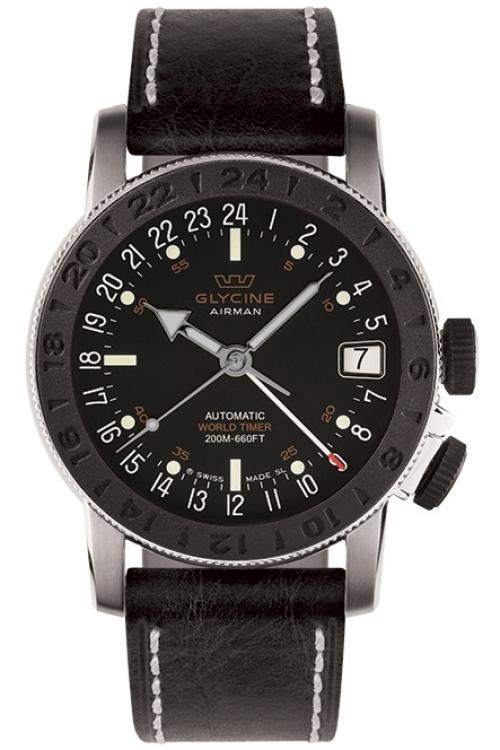 Mens Glycine Airman 17 Sphair Automatic Watch 3927.196