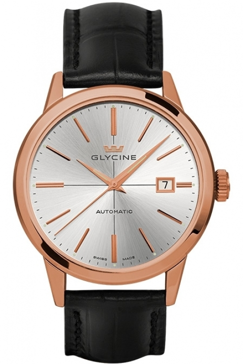 Mens Glycine Classic Automatic Watch 3910.21.LBK9