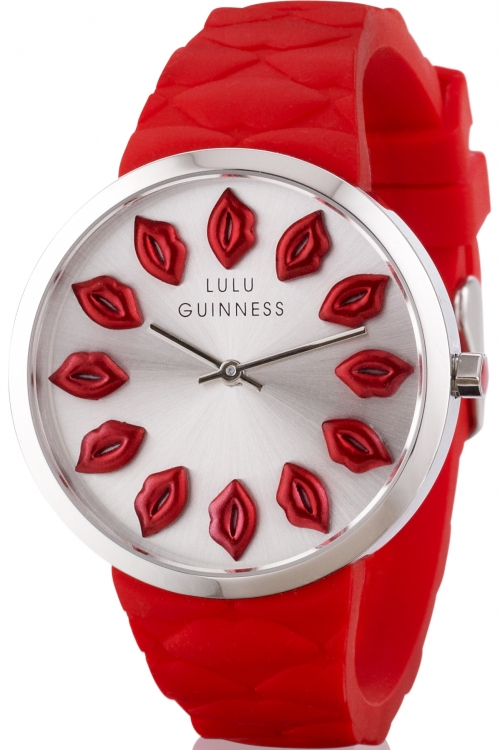 Ladies Lulu Guinness Quilted Lips Watch