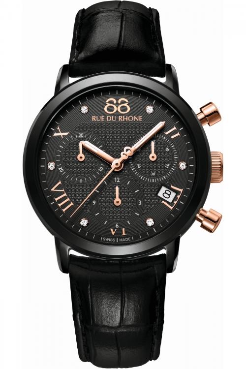Ladies 88 Rue Du Rhone Double 8 Origin 35mm BAFTA Limited Edition Chronograph Diamond Watch