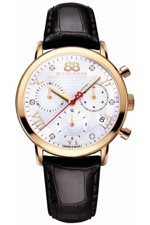 Ladies 88 Rue Du Rhone Double 8 Origin 35mm Chronograph Diamond Watch