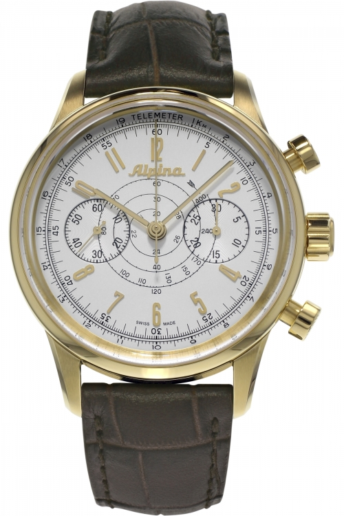Mens Alpina Pilot Heritage 130 Automatic Chronograph Watch AL-860S4H5