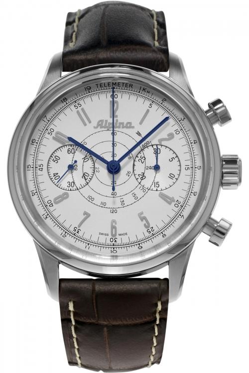 Mens Alpina Pilot Heritage Automatic Chronograph Watch AL-860S4H6