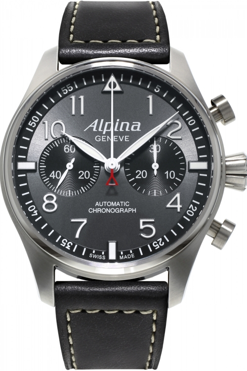 Mens Alpina Startimer Pilot Automatic Chronograph Watch AL-860GB4S6