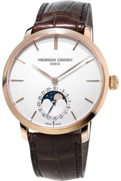 Mens Frederique Constant Slim Line Manufacture Moonphase Automatic Watch FC-705V4S4