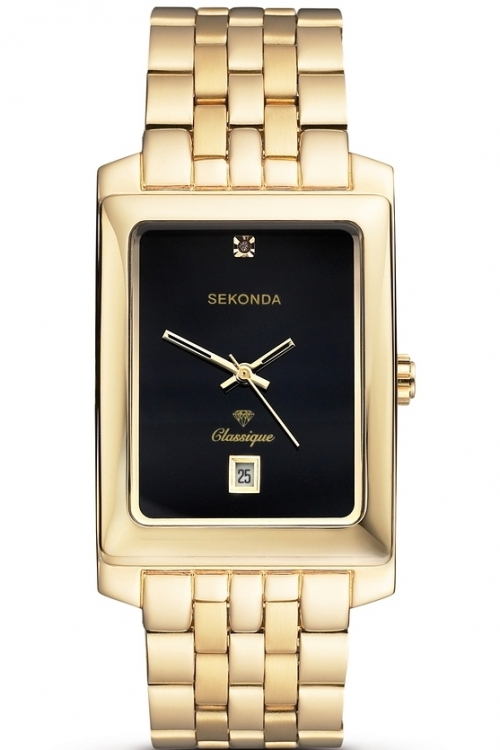 Mens Sekonda Classique Diamond Watch 3835