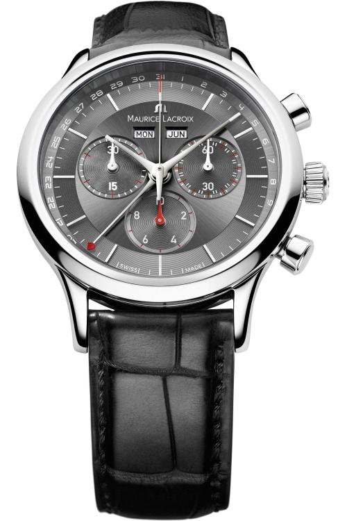 Mens Maurice Lacroix Les Classiques Chronograph Watch LC1228-SS001-330