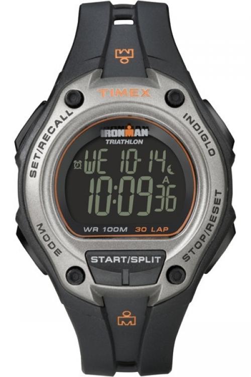 Mens Timex Indiglo Ironman Triathlon 30 lap oversize Alarm Watch T5K758