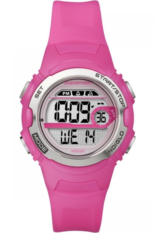 Ladies Timex Indiglo Marathon Digital Mid Size Alarm Watch