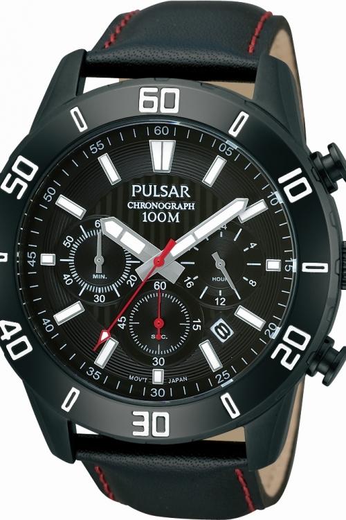 Mens Pulsar Chronograph Cuff Watch PT3371X1
