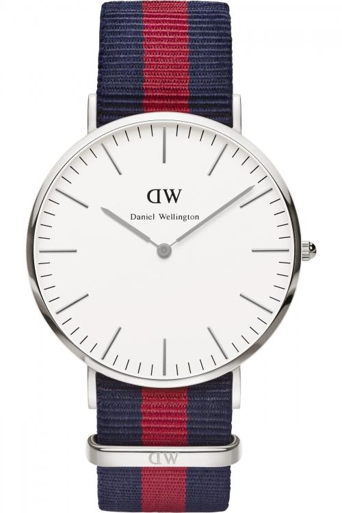 Mens Daniel Wellington Oxford Silver 40mm Watch 0201DW