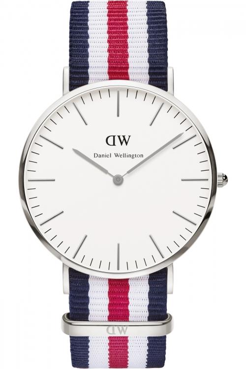 Mens Daniel Wellington Canterbury Silver 40mm Watch 0202DW
