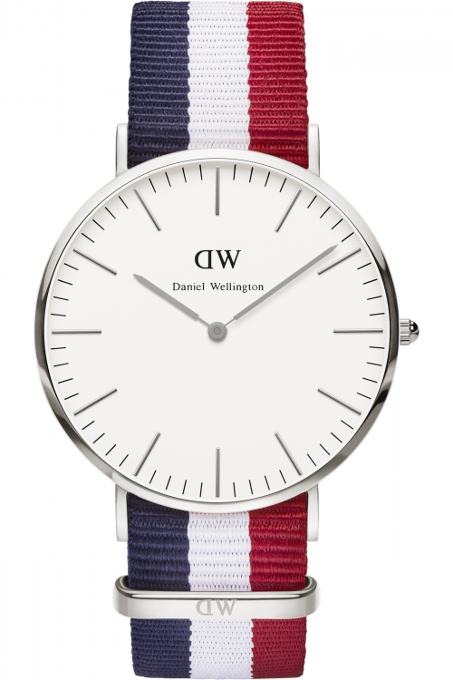 Mens Daniel Wellington Cambridge Silver 40mm Watch 0203DW