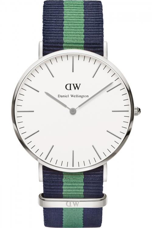 Mens Daniel Wellington Warwick Silver 40mm Watch 0205DW