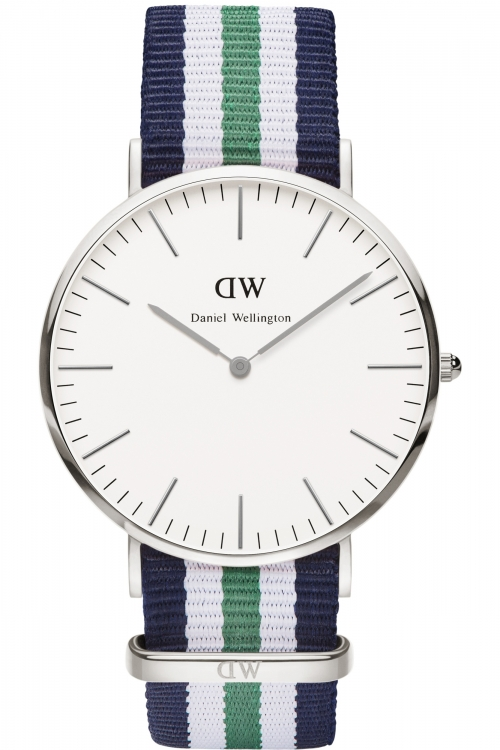 Mens Daniel Wellington Nottingham Silver 40mm Watch 0208DW