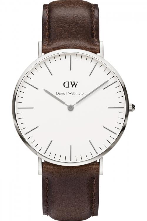 Mens Daniel Wellington Bristol Silver 40mm Watch 0209DW