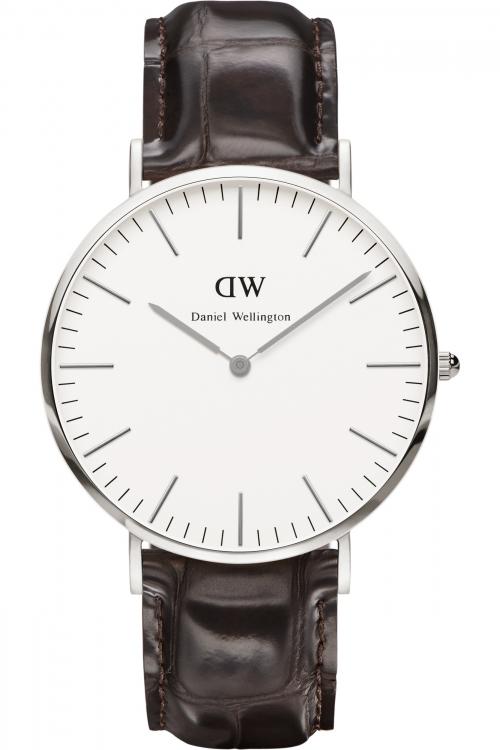 Mens Daniel Wellington York Silver 40mm Watch 0211DW