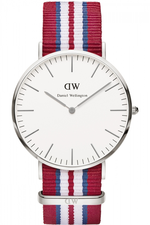Mens Daniel Wellington Exeter Silver 40mm Watch 0212DW
