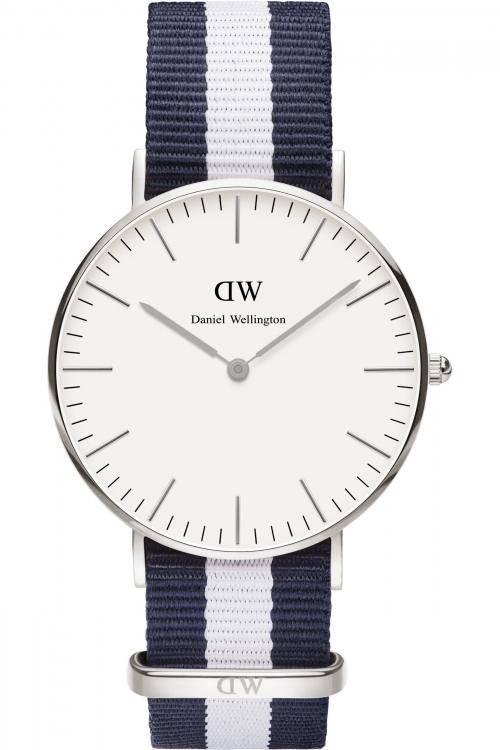 Mens Daniel Wellington Glasgow Silver 36mm Watch 0602DW