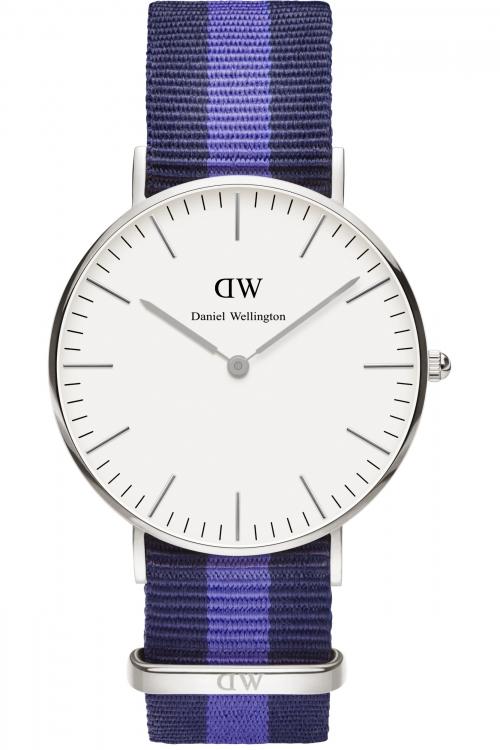 Mens Daniel Wellington Swansea Silver 36mm Watch 0603DW