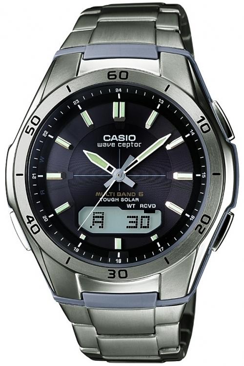 Mens Casio Waveceptor Titanium Alarm Chronograph Watch WVA-M640TD-1AER