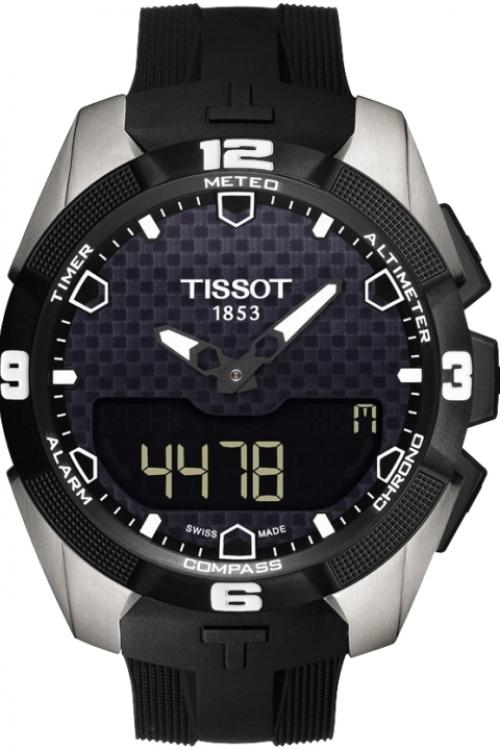 Mens Tissot T-Touch Expert Titanium Alarm Chronograph Solar Powered Watch T0914204705100