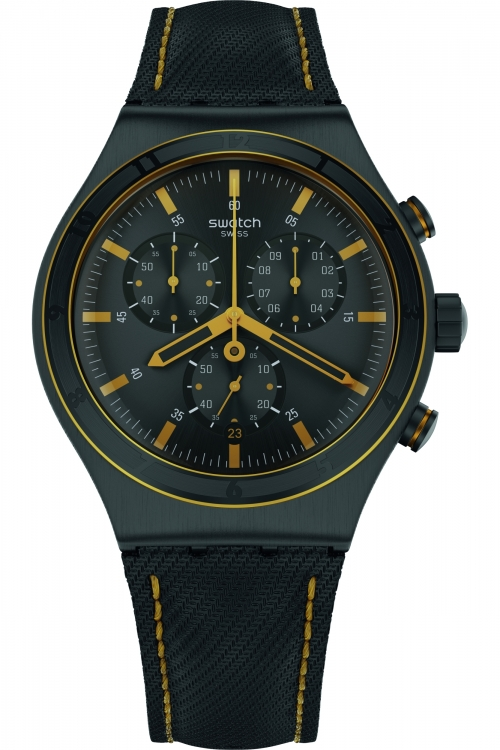 Mens Swatch Noho Time Chronograph Watch YVB400