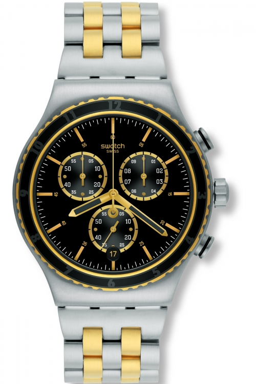 Mens Swatch Sobro Chronograph Watch YVS403G