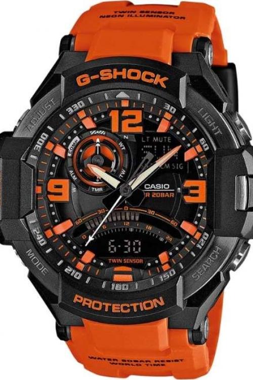 Mens Casio G-Shock Sky Cockpit Alarm Chronograph Watch GA-1000-4AER