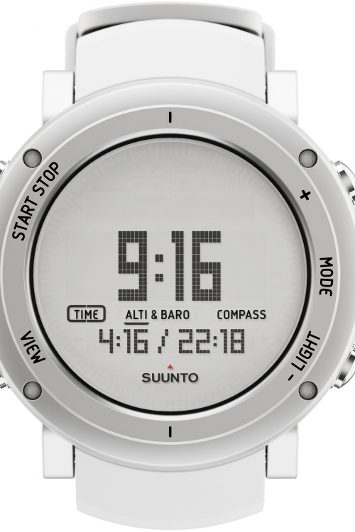 Mens Suunto Core Alu pure white Alarm Chronograph Watch SS018735000