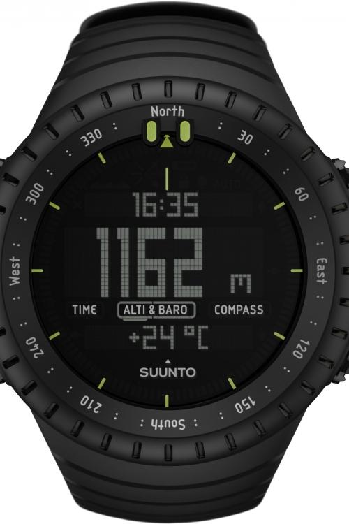 Mens Suunto Core All Black Alarm Chronograph Watch SS014279010