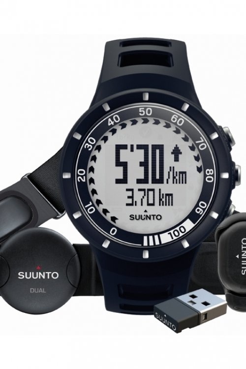 Mens Suunto Quest Heart Rate Monitor Running Pack Alarm Chronograph Watch SS018156000