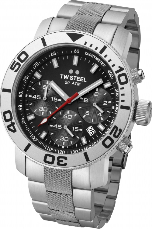 Mens TW Steel Grandeur Diver Chronograph 45mm Watch TW0706