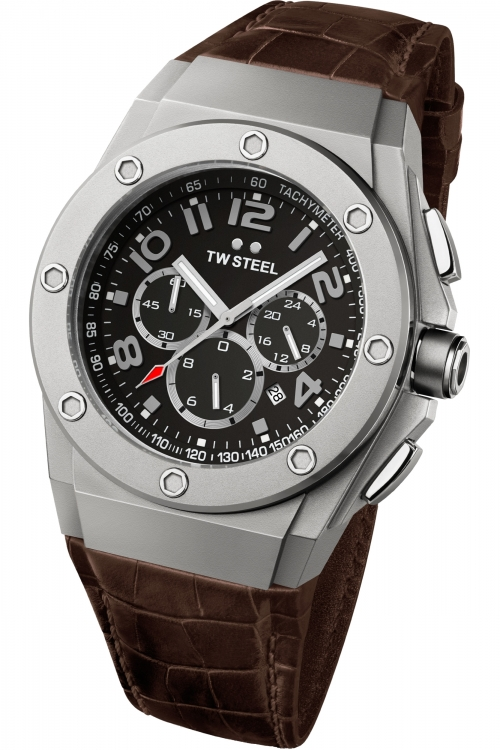 Mens TW Steel CEO Tech 44mm Chronograph 44mm Watch CE4013