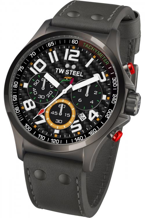Mens TW Steel Pilot Sahara Force India F1 Chronograph 45mm Watch TW0430