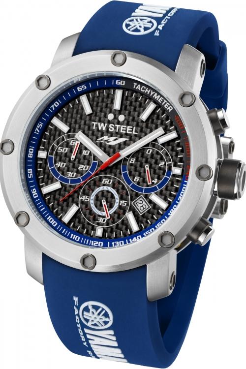 Mens TW Steel Tech Yamaha Factory Racing Edition 48mm Chronograph 48mm Watch TW0925