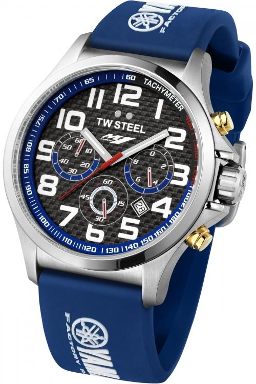 Mens TW Steel Pilot Yamaha Factory Racing Edition 48mm Chronograph 48mm Watch TW0927