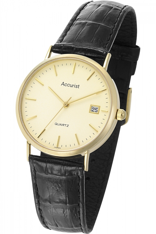 Mens Accurist 9ct Gold Watch GD14614S