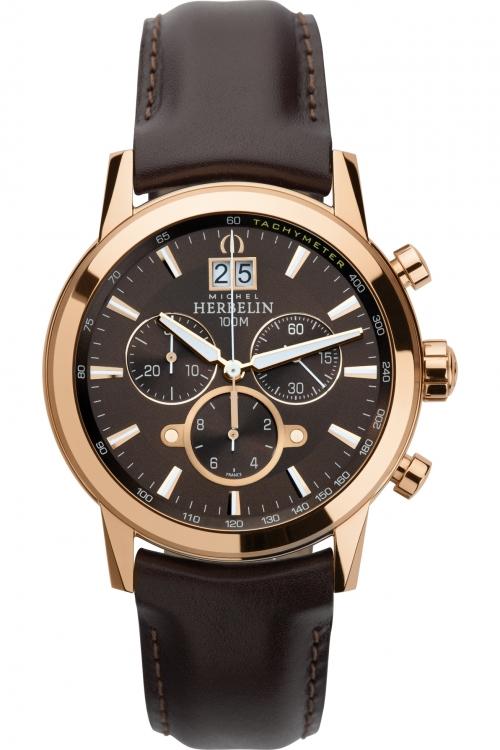 Mens Michel Herbelin Chronograph Watch 36669/PR48MA